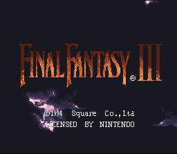 Final Fantasy VI SNES <br />(Final Fantasy III USA)