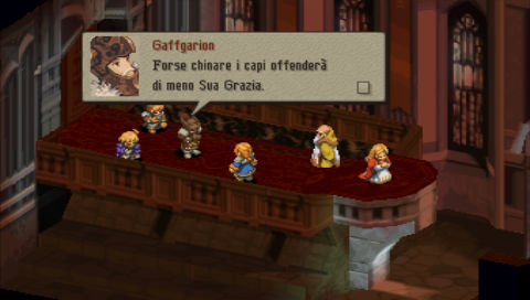Gaffgarion Final Fantasy Tactics italiano